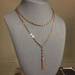 Baublebar rose gold layered necklace